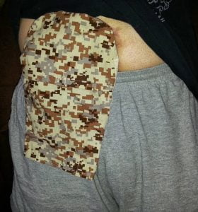 Grandmas Hands Camo Ostomy Pouch Cover
