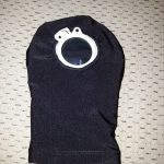 Grandmas hands black pouch cover front with flange