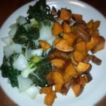 Bok Choy and sweet potato