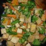 Broccoli and tofu stirfry