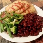 Hashbrown with veggies and kidney beans