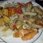 Home fries with tofu and rice
