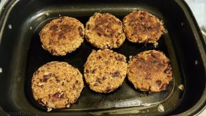 Homemade bean burgers