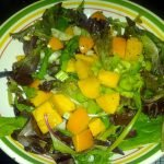 Mango salad with mixed greens