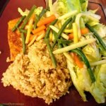 Marinated rice with green and yellow beans
