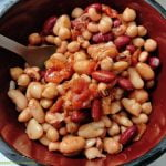 Mixed beans and salsa