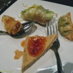 Mixed platter at restaurant in Orlando