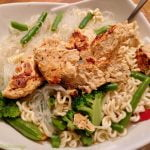 Mock chicken and noodles