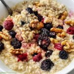 Oatmeal and frozen berries