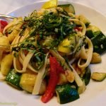 Pasta dish with mixed veg from a restaurant in Orlando