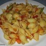 Pasta with mixed veg