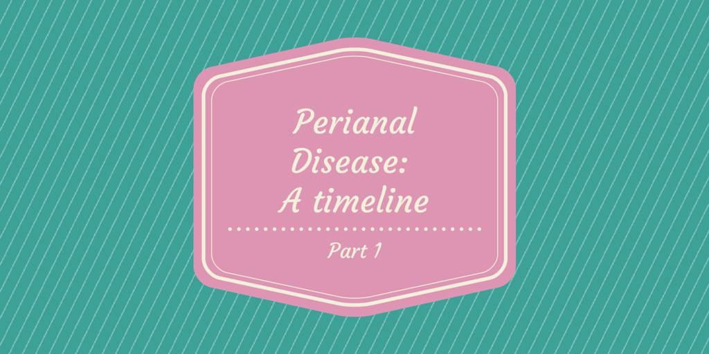 Perianal Disease timeline part 1 cover