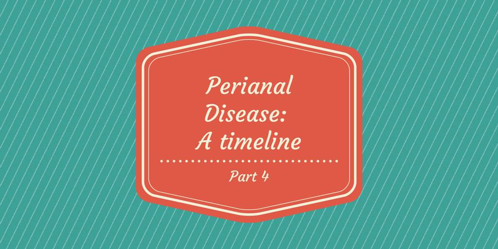 Perianal Disease timeline part 4 cover