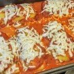 Polenta lasagna with Daiya nondairy cheese