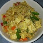 Rice and tofu stirfry