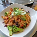 Rice dish at vegan restaurant in Cape Town
