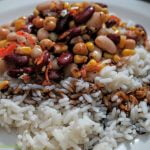 Rice with beans and corn