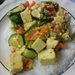 Rice with mixed veg tofu and zicchini