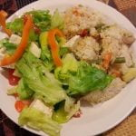 Salad with rice