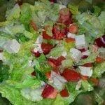 Salad with tofu and mixed veg