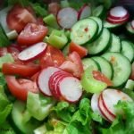 Simple salad with radishes