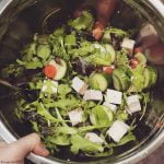 Spring mix salad with tofu