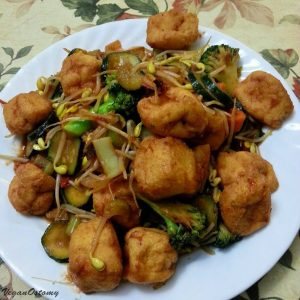 Stirfry with tofu balls