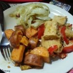 Sweet potato and tofu