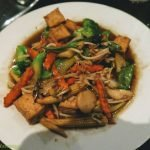 Tofu and sprout dish from restaurant in Orlando