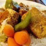 Tofu on rice