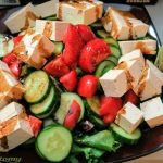 Tofu salad and balsamic vinegar