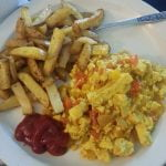 Tofu scrambles with home fries