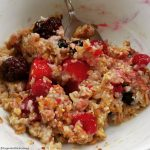Ancient grain porridge and berries