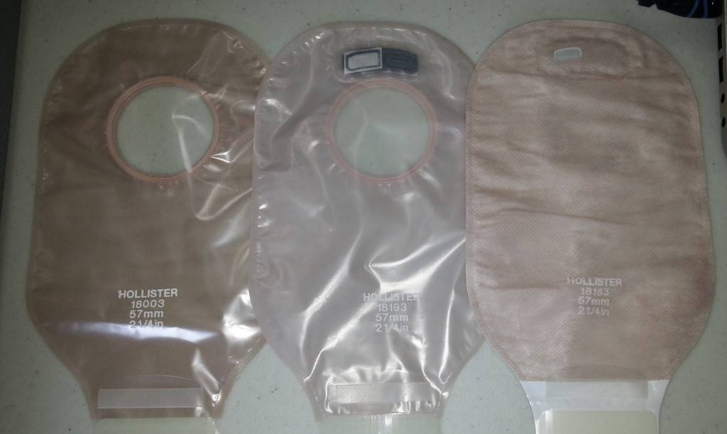 Hollister ultra clear_transparent_beige pouches front