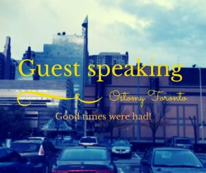 Guest Speaker at Ostomy Toronto