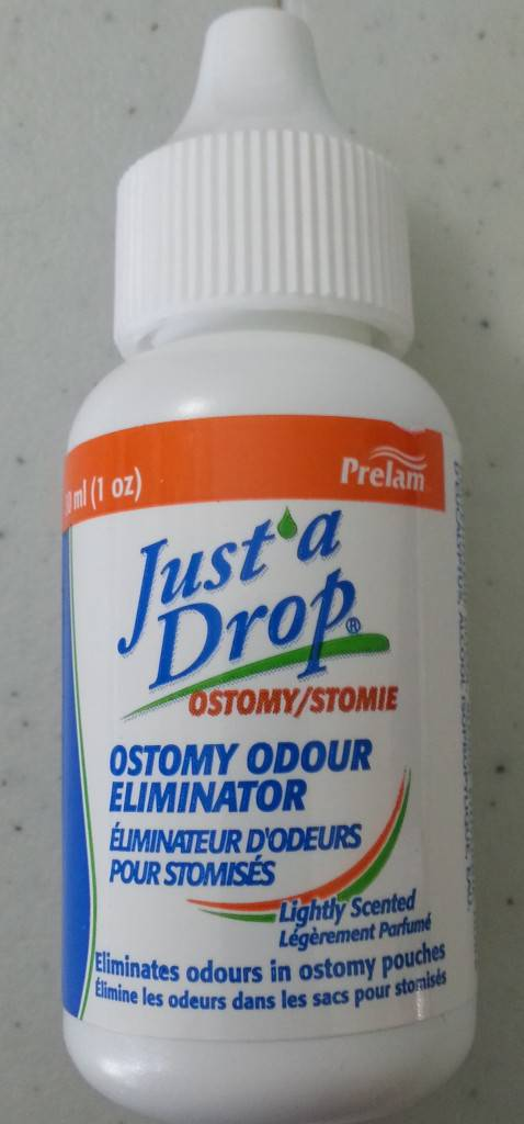 30ml bottle of Just a Drop Lightly Scented ostomy drops
