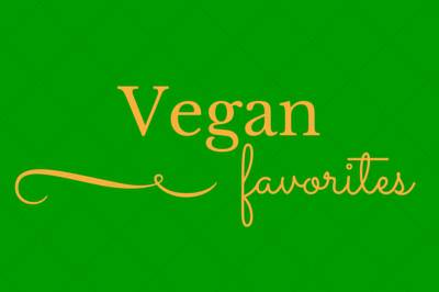 Vegan favorites banner