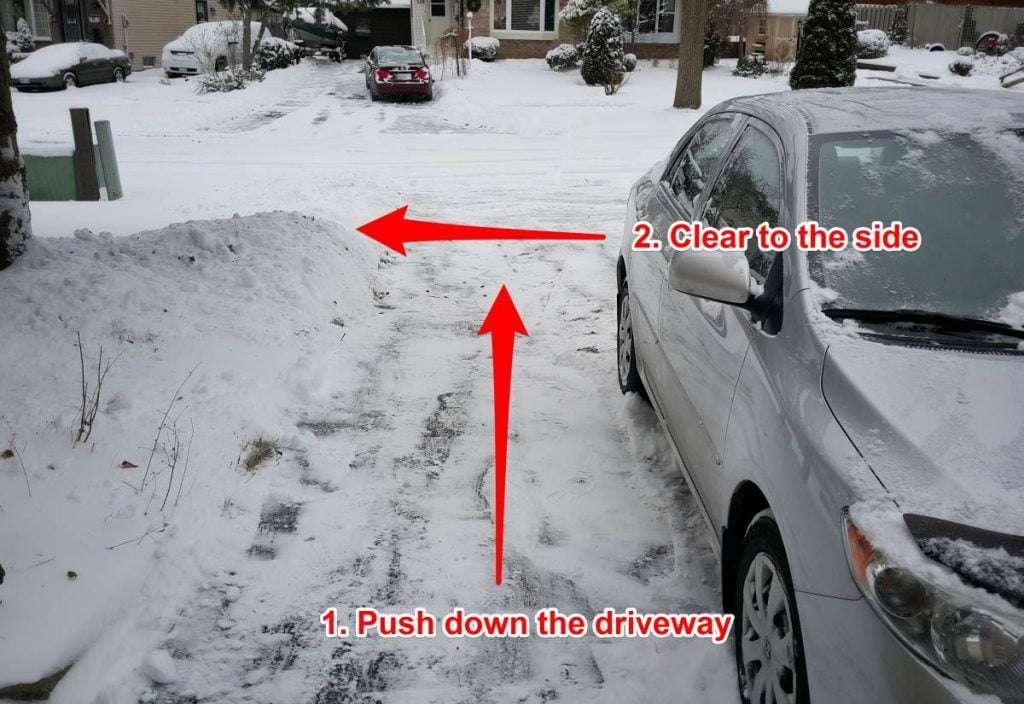 Driveway snow clearing method