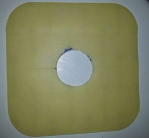 Coloplast Brava Protective sheet with stoma hole cut