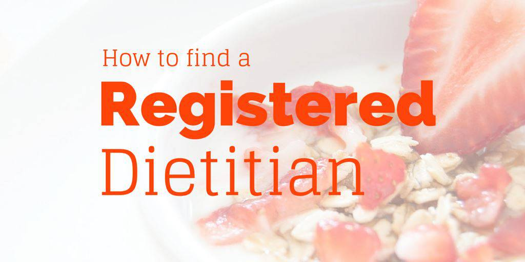 How to find a registered dietitian