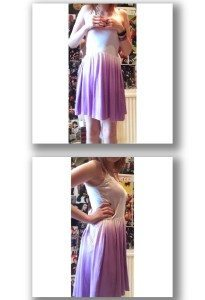 Dress – White & Purple