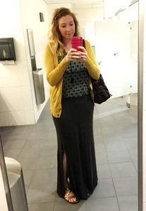 Maxi Skirt w/ Tank Top & Cardi