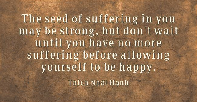 Seed of suffering Thích Nhất Hạnh
