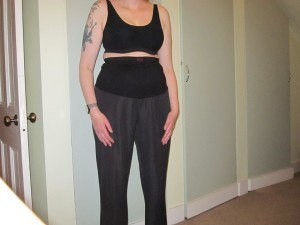 Maternity trousers w/ wrap