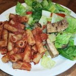 Pasta w/ salad & marinated tofu