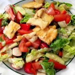 Vegan salad w/ Gardein strips