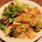 Vegan vermicelli stirfry w/ salad