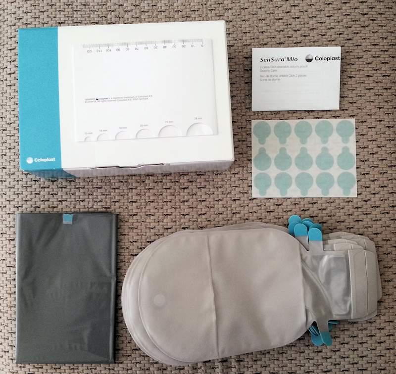 Coloplast Sensura Mio click package contents