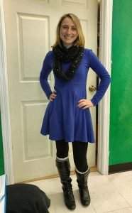 Blue Dress and Boots – Karin