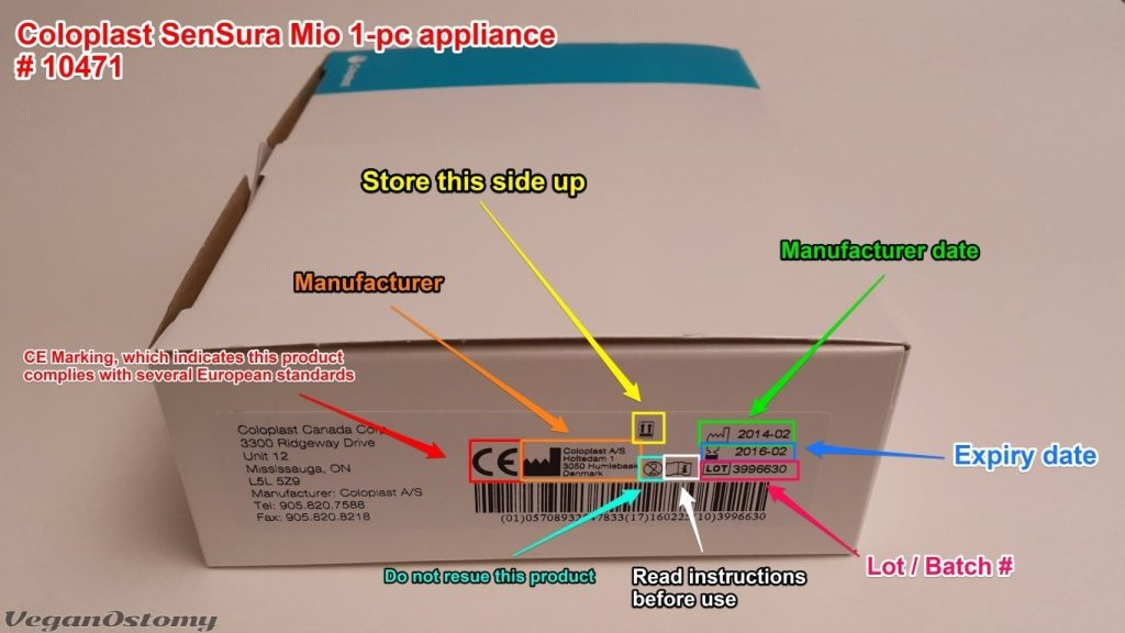 Coloplast SenSura Mio 1pc package info
